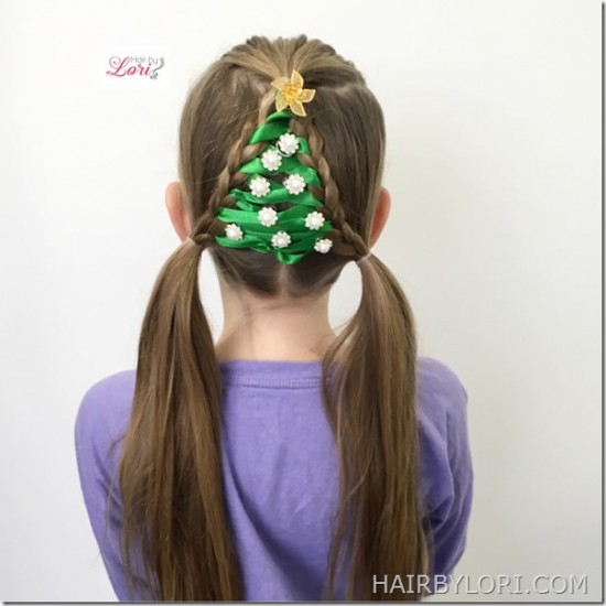 Easy Christmas Tree Braid