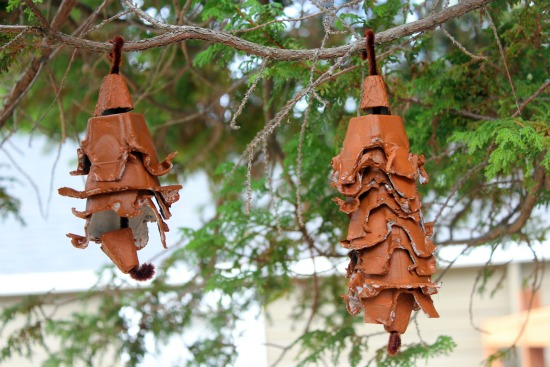 Recycled Egg Carton Pine Cone Craft Make And Takes