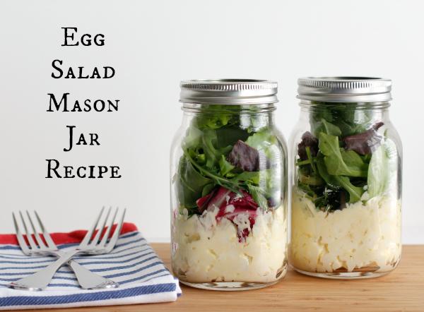 Egg Salad Mason Jar Recipe YUM!