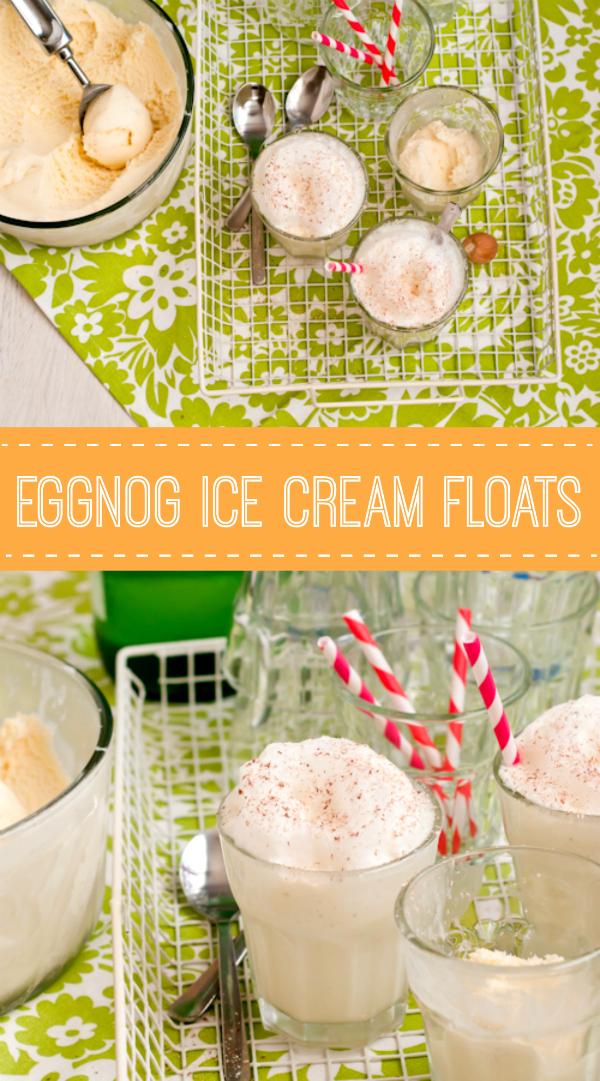 Easy Eggnog Ice Cream Floats