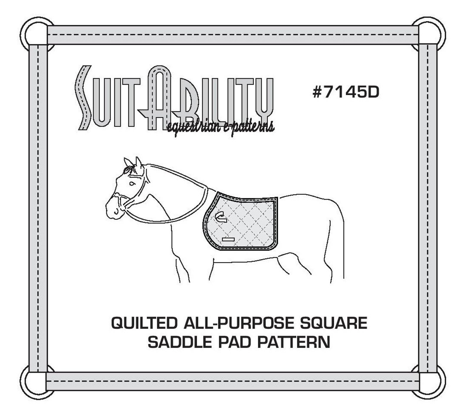 Equestrian Sewing Pattern Saddle