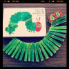 Eric Carle caterpillar clothespin craft for kids
