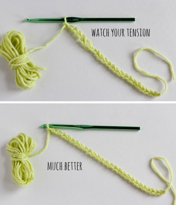 Even Stitching with Chain Stitch Crochet @makeandtakes.com #crochetaday