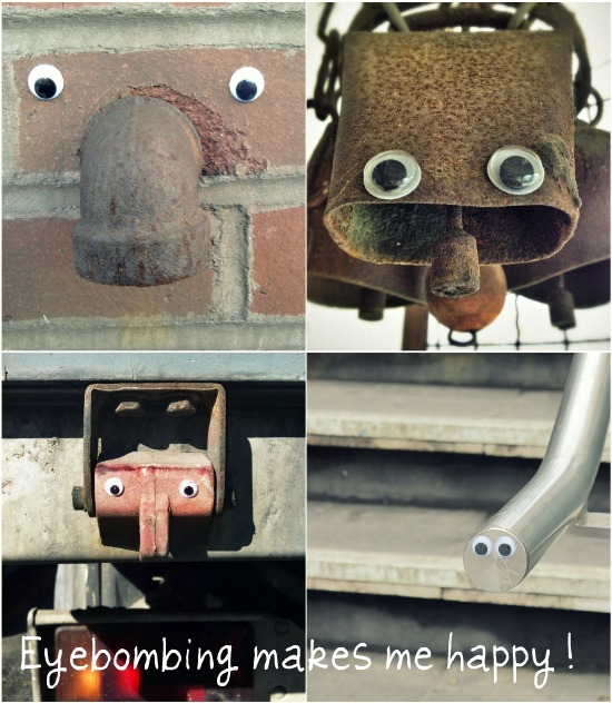Eyebombing with googly eyes