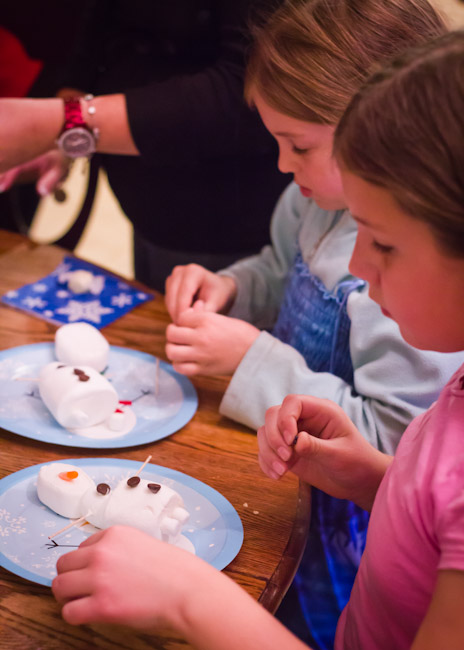 Do You Want to Build a Snowman Marshmallow Craft