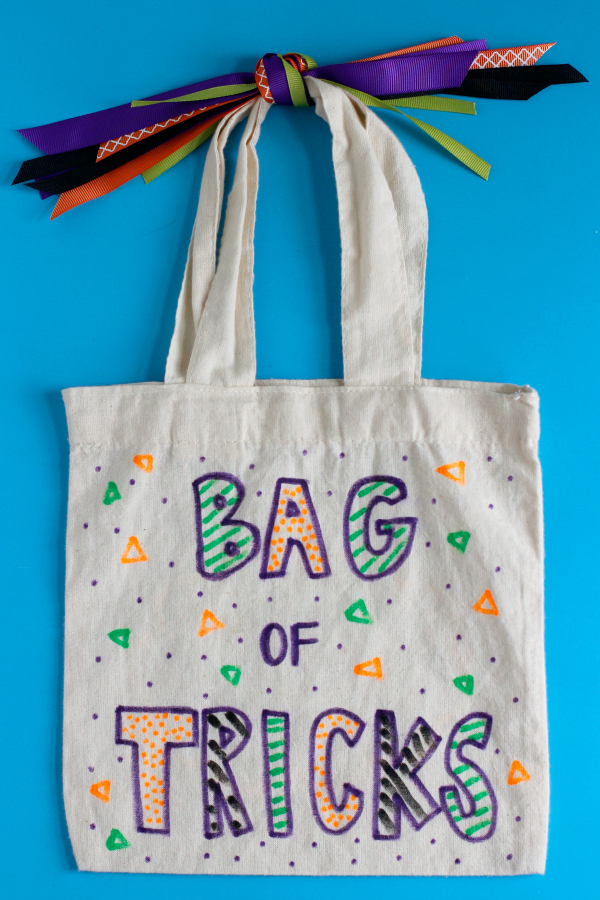 Fabric Markers on a Canvas Bag