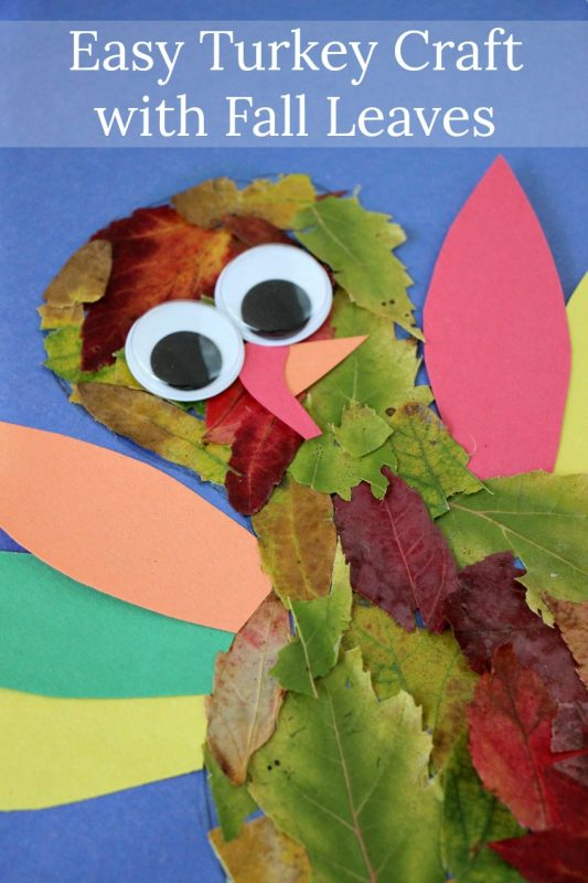 Falling leaves turkey craft
