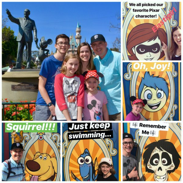Family Friendship at Disneyland Pixar Fest