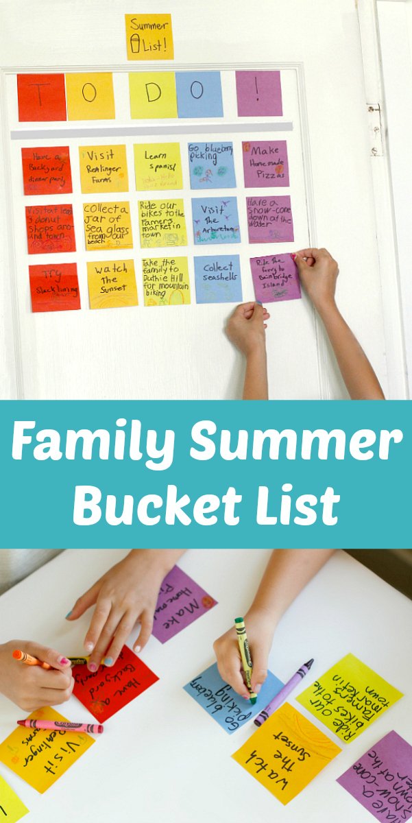 Family Outdoor Summer Bucket List