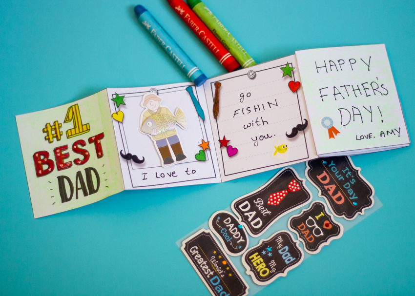 Printable Zig Zag Mini Book For Father S Day Make And Takes