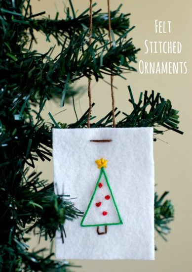 Felt Stitched Ornaments