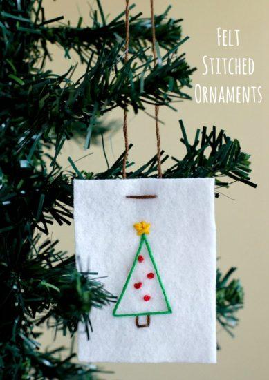 Felt Stitched Ornaments