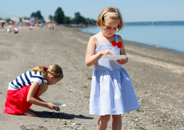 Finding Sea Glass at the Beach with Kids