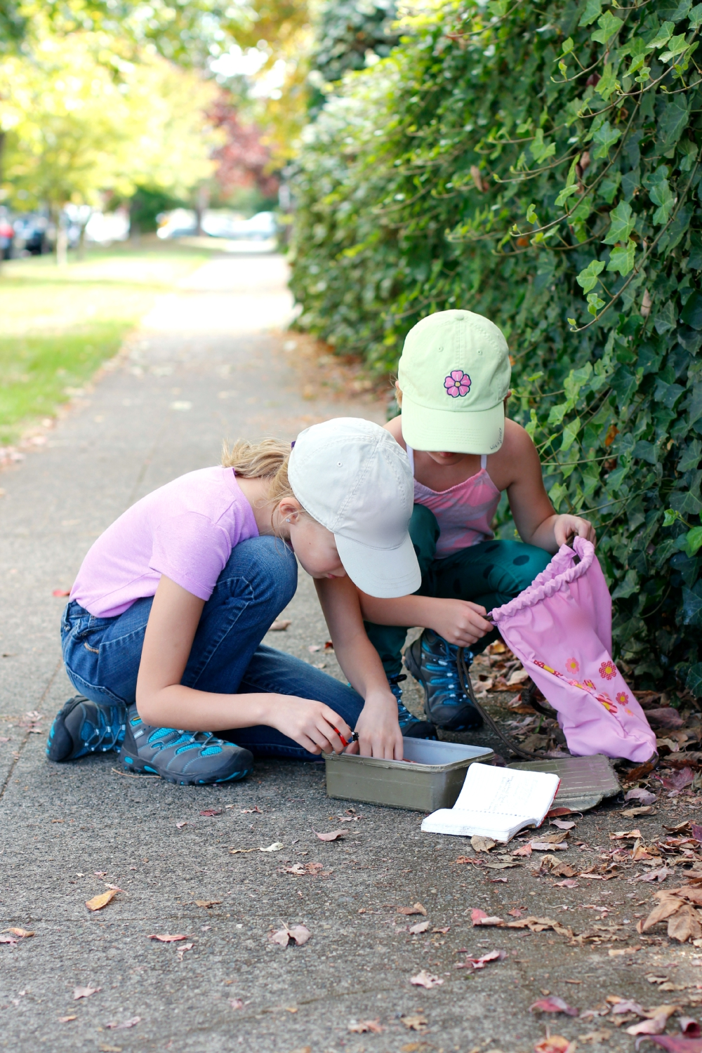 Finding a Geocaching Box with Kids