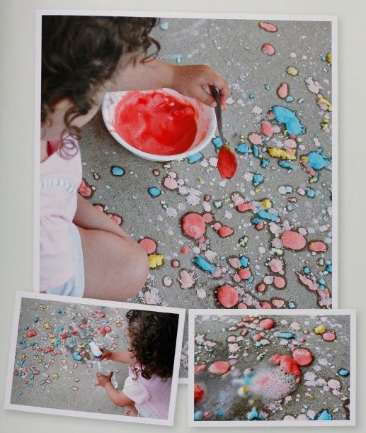 Fizzing Sidewalk Chalk via 101 Kids Activities Book