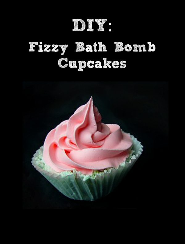 DIY Fizzy Bath Bomb Cupcakes