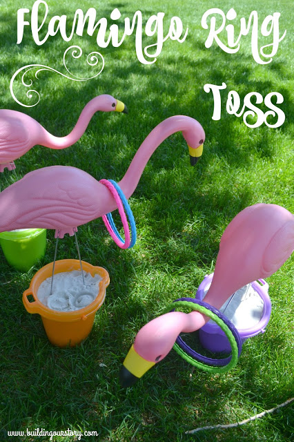 Summertime Flamingo Ring Toss