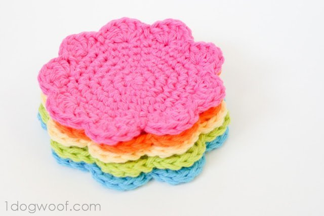 Floral Crochet Coasters