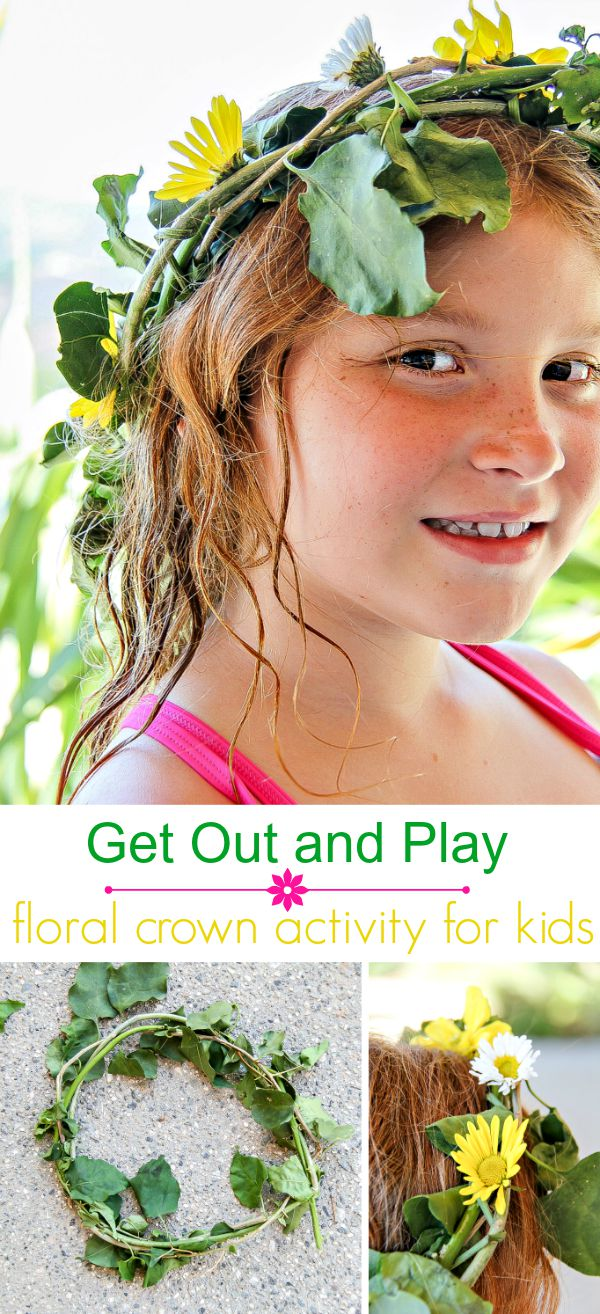 Floral Crown activity for kids