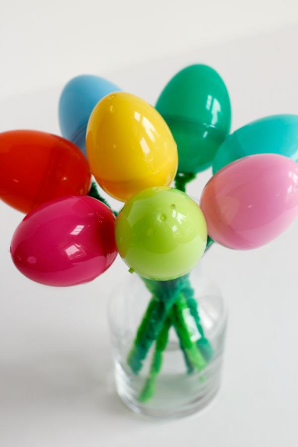 Flower Bouquet of Plastic Easter Eggs