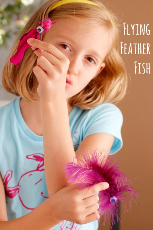 Flying Feathered Fish Kids Craft