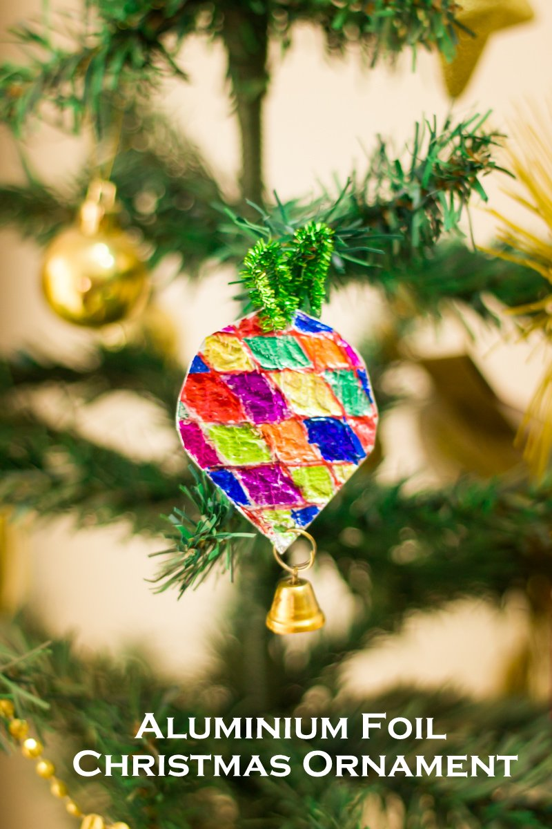 Easy Tin Foil Christmas Tree Ornaments | Make and Takes