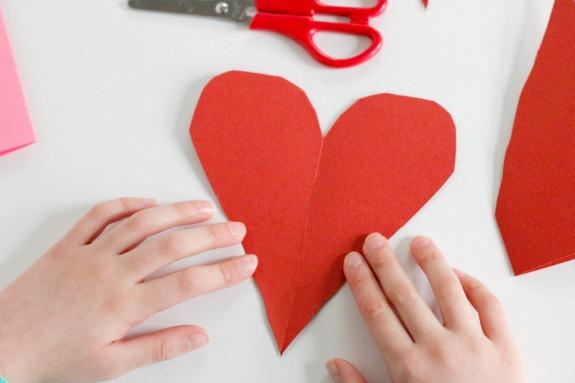 Folded Cut in Half Heart @makeandtakes.com