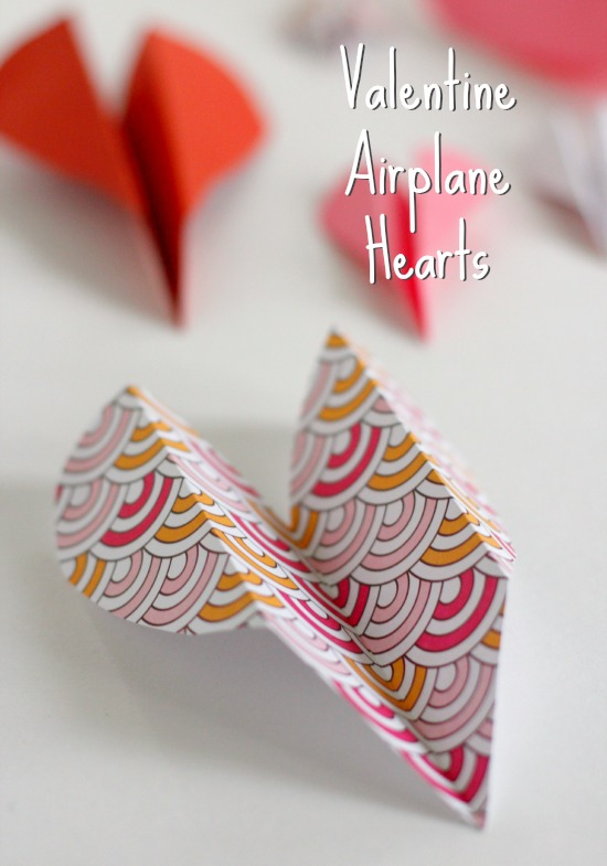 Valentine Airplane Hearts Make And Takes