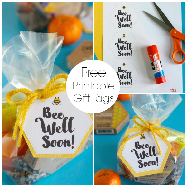 Free Bee Well Soon Printable Gift Tags