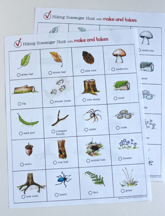 picture regarding Printable Scavenger Hunt referred to as Mountaineering Scavenger Hunt Printable for Small children Produce and Will take
