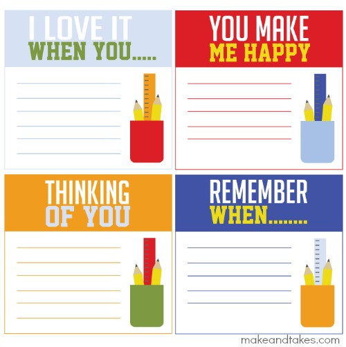 Free Lunchbox Printable Notes