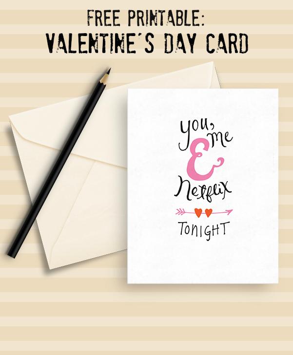 Free Netflix Printable Valentine's Card
