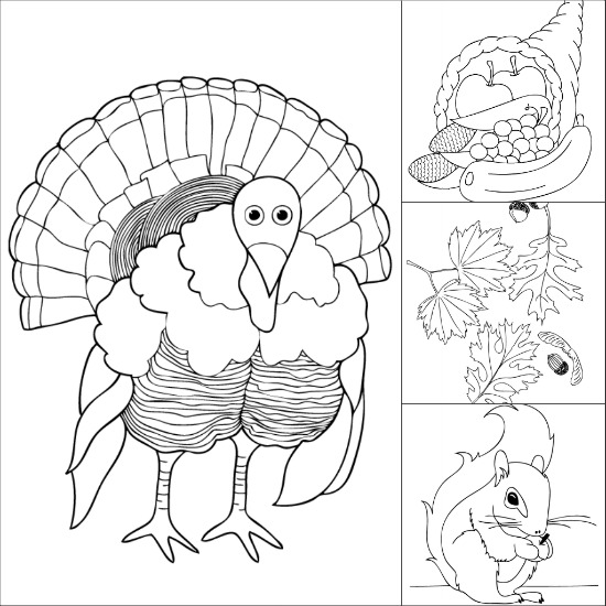 Free Printable Thanksgiving Coloring Pages  Make and Takes