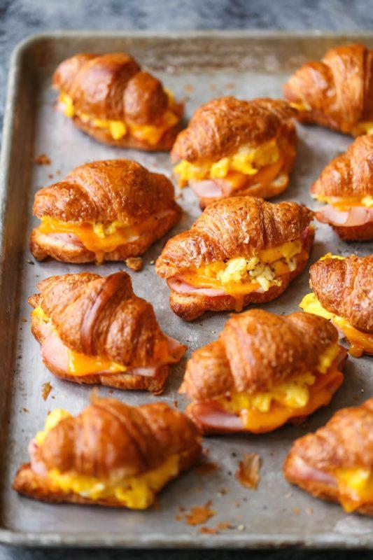 Freezer Croissant Breakfast Sandwiches
