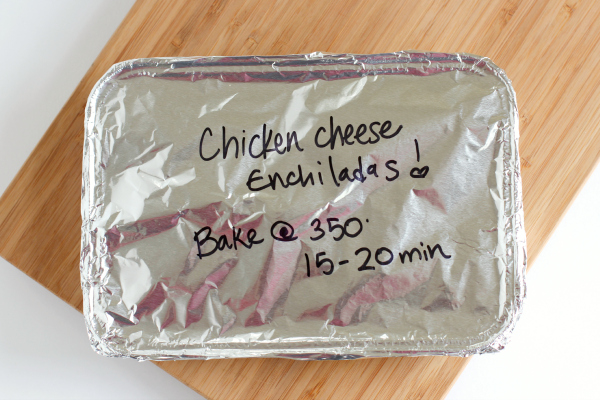 Freezer Meal Chicken Enchiladas