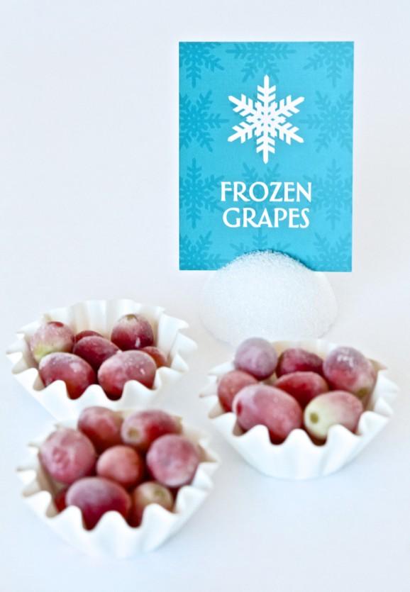 Frozen Inspired Grape Snack