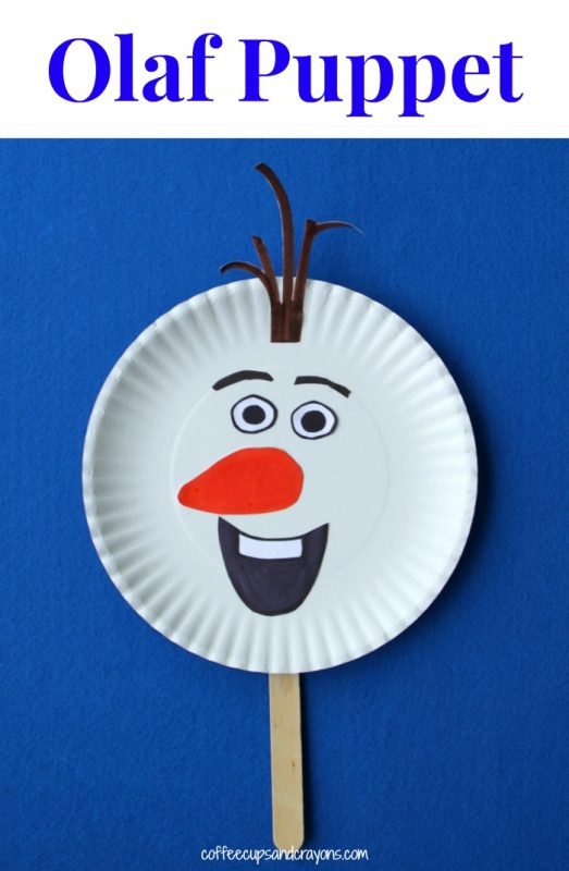 Frozen Movie Olaf Puppet Craft