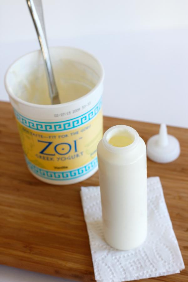 Frozen Yogurt Fruit Dots Squeeze Container