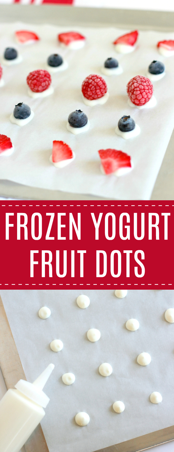 Frozen Yogurt Fruit Dots
