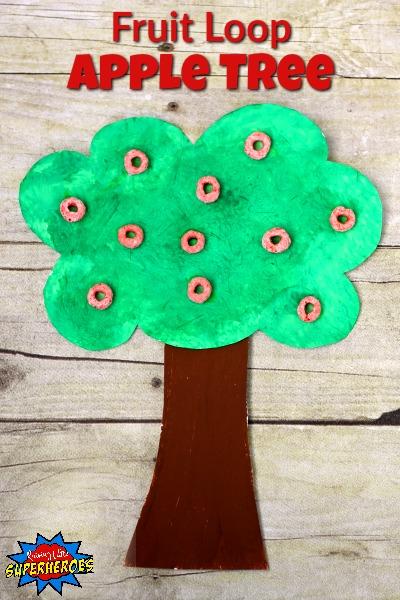 Fruit Loop Apple Tree Craft