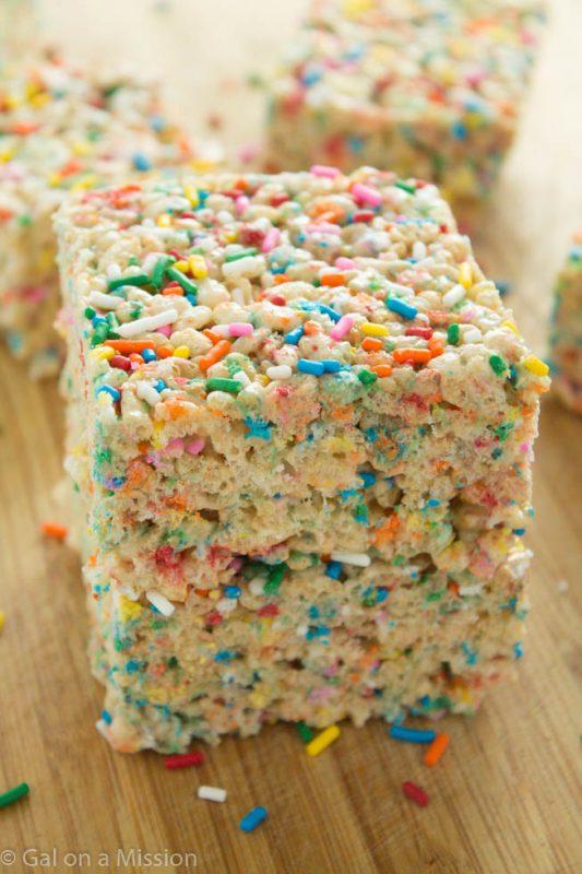 Funfetti Rice Krispy Treats