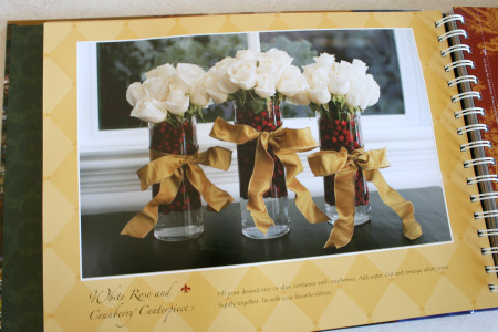 Gathering Cookbook Table Decor