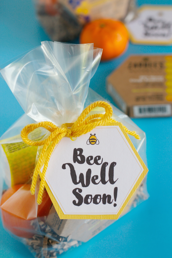 Get Well Printable Gift Tags Bee Well Soon