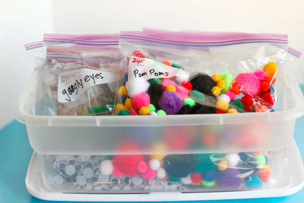 Getting Your Kids Crafts Organized