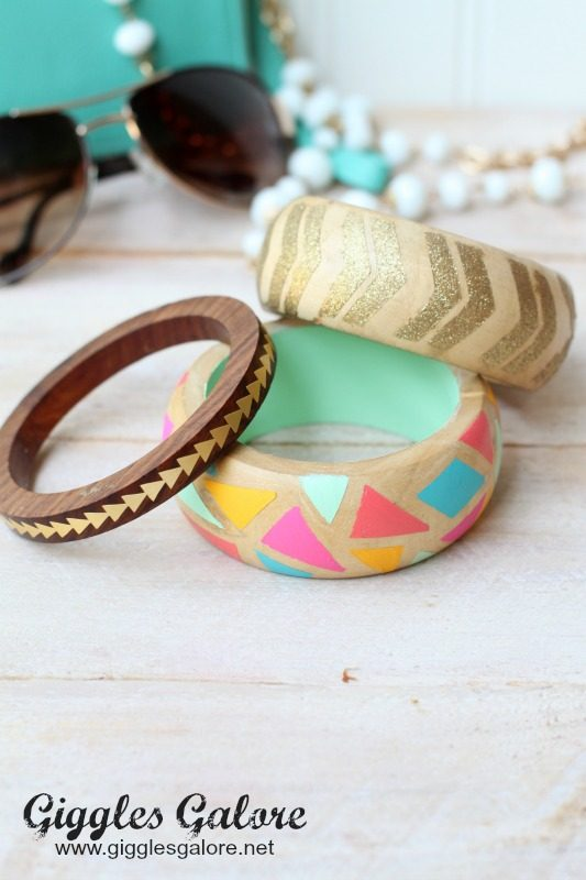 DIY Painted Wooden Bracelets