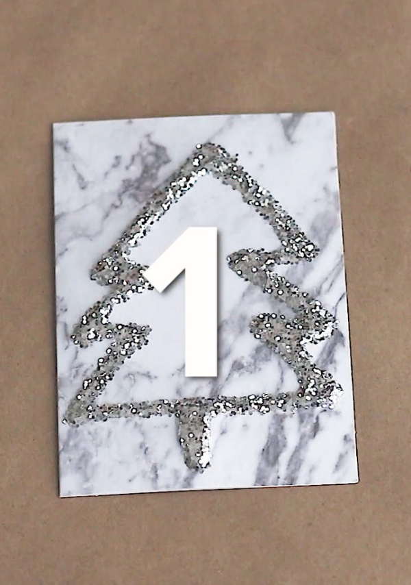 Glitter Christmas Tree Card