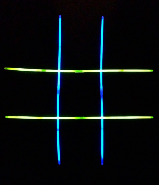 Glow Stick Tic-Tac-Toe Night Games