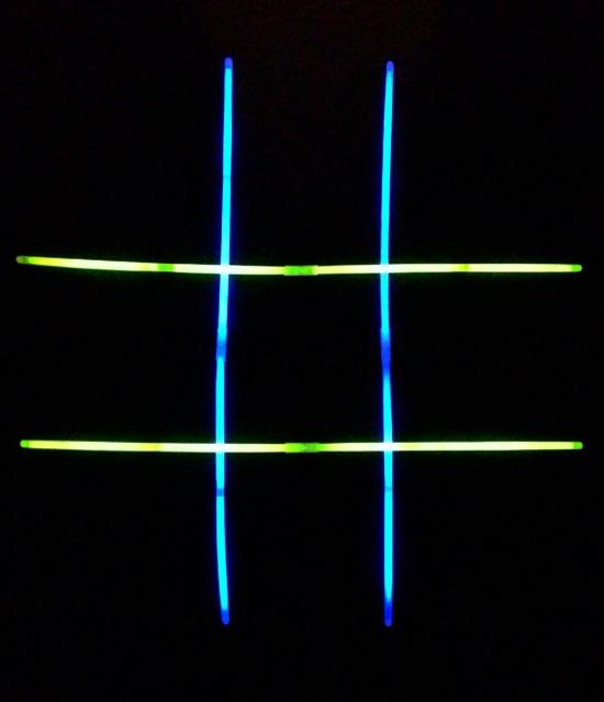 Glow Stick Tic-Tac-Toe Night Games