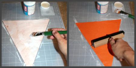 Gluing Fabric Mod Podge