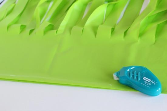 Gluing Plastic Hula Skirt